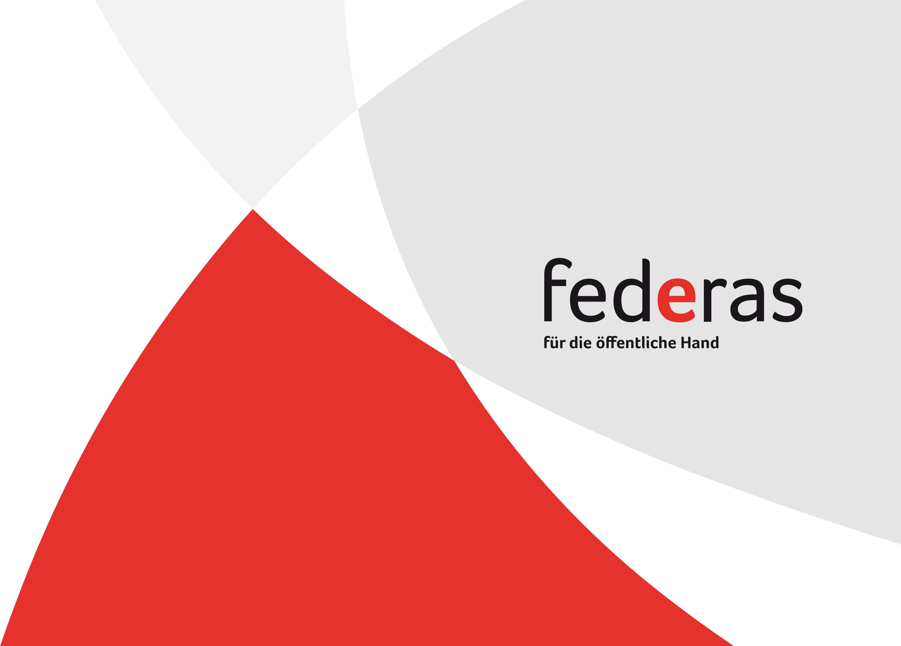 Federas Logo und sekundäres Gestaltungselement. Corporate Design und Kommunikation mit dem Blick aufs Ganze und der Leidenschaft für gute Gestaltung.