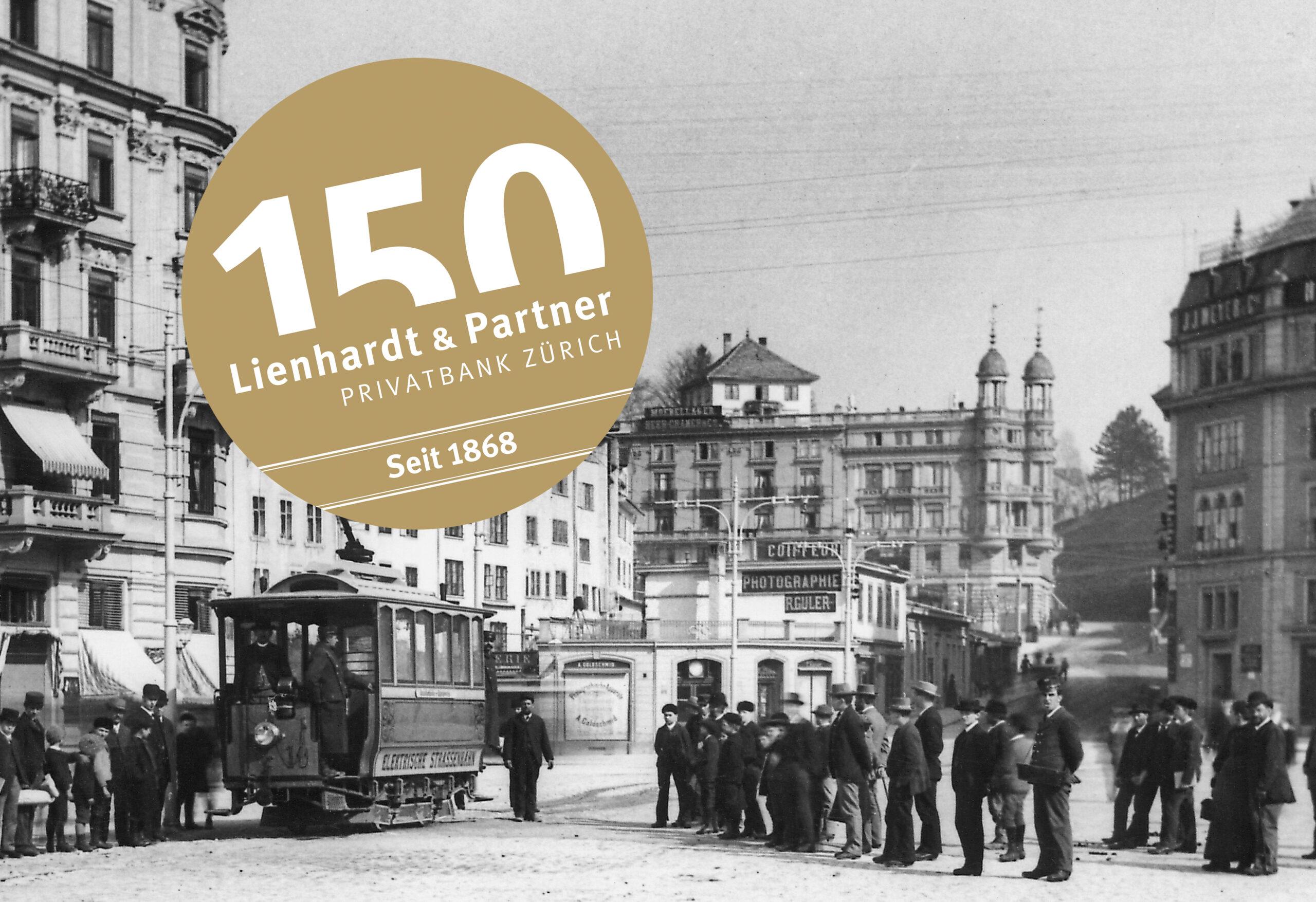 Lienhardt & Partner Jubiläumslogo historische Aufnahme. Corporate Design und Kommunikation mit dem Blick aufs Ganze und der Leidenschaft für gute Gestaltung.